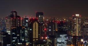Osaka city skyline night Royalty Free Stock Image