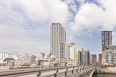 Osaka city street scenery Royalty Free Stock Photography