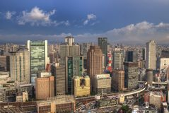 Osaka Cityscape Royalty Free Stock Photo