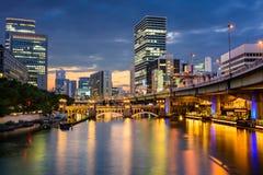 Osaka Cityscape Fotografie Stock Libere da Diritti