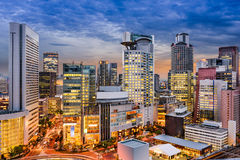 Osaka Cityscape immagini stock libere da diritti