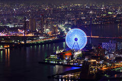 Osaka Cityscape. Night view of Osaka from Cosmo tower Stock Images