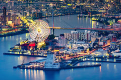 Osaka Cityscape. Night view of Osaka from Cosmo tower Royalty Free Stock Image