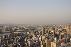 Osaka Cityscape with a river Royalty Free Stock Photos
