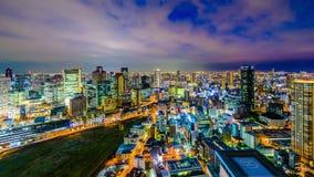 Osaka, Cityscape van Japan Umeda stock video