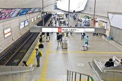 Osaka gångtunnel Fotografering för Bildbyråer