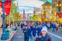OSAKA, GIAPPONE - 1° dicembre 2015: Studi universali Giappone (USJ) Fotografie Stock Libere da Diritti