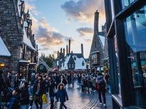 Osaka, Giappone - 19 novembre 2017: Il mondo di Wizarding di Harry P immagine stock libera da diritti