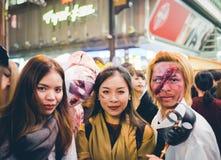 OSAKA, GIAPPONE - 31 OTTOBRE 2015: Strada dei negozi di Dotonbori in Osa Immagini Stock