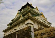 Osaka Grodowy i czereśniowy okwitnięcie w wiośnie, Osaka, Japonia zdjęcie royalty free