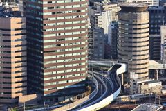 Osaka highway building Stock Images