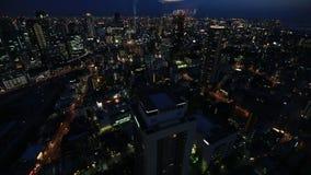 Osaka horisontskymning lager videofilmer