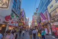 Osaka, Japão - 2 de junho de 2016: Curso em Dontonbori Foto de Stock Royalty Free