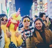 OSAKA, JAPÃO - 31 DE OUTUBRO DE 2015: Rua da compra de Dotonbori em Osa Foto de Stock