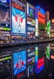 OSAKA, JAPÃO - novembro, 15, 2014: Quadro indicador de néon do homem de Glico em D Fotos de Stock