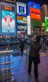 OSAKA, JAPÃO - novembro, 15, 2014: Quadro indicador do néon do homem de Glico Fotografia de Stock