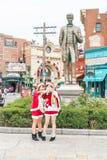 Osaka, Japón - 21 de noviembre de 2016: Las atracciones del parque temático basadas encendido Imagen de archivo