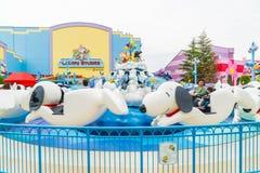 Osaka, Japón - 21 de noviembre de 2016: Las atracciones del parque temático basadas encendido Fotos de archivo