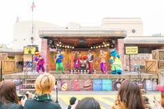 Osaka, Japón - 21 de noviembre de 2016: Las atracciones del parque temático basadas encendido Foto de archivo libre de regalías