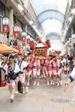 Osaka, Japón - festival de Tenjin Matsuri imágenes de archivo libres de regalías