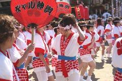 Osaka, Japón - festival de Tenjin Matsuri fotos de archivo