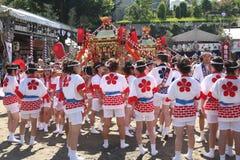 Osaka, Japón - festival de Tenjin Matsuri fotos de archivo libres de regalías