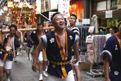 Osaka, Japón - festival de Tenjin Matsuri imagen de archivo libre de regalías