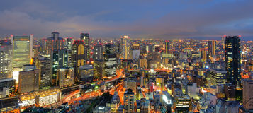 Osaka Japan. Panorama of the Umeda, Osaka, Japan skyline Stock Photography