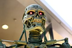 Photo of the T-800 End skeleton royalty free stock photography