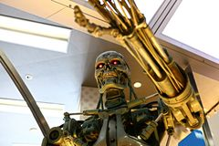 Photo of the T-800 End skeleton royalty free stock image