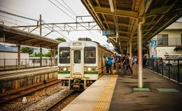 Train station in Osaka, Japan stock image
