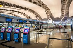 Interior of Osaka International Airport Stock Photography