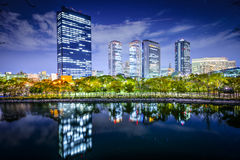 Osaka, Japan Business Park Royalty Free Stock Images