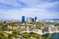 Osaka, Japan City Skyline Royalty Free Stock Photo