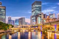 Osaka Japan Cityscape fotografering för bildbyråer