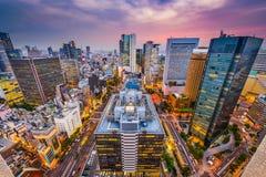 Osaka Japan Cityscape arkivbild