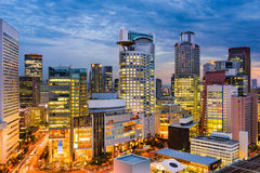 Osaka Japan Cityscape. Osaka, Japan cityscape in Umeda Stock Photo