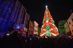 Osaka, Japan - December 2,2016 : Christmas celebration at Univer. Sal Studios Theme Park in Osaka, Japan Stock Image