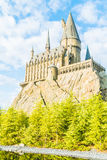 OSAKA, JAPAN - December 1, 2015 : Hogwarts School of Witchcraft. Castle and Wizardry replica at The Wizarding World of Harry Potter Attraction, at Universal Royalty Free Stock Photography