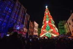 Osaka Japan - December 2,2016: Julberöm på Univer fotografering för bildbyråer