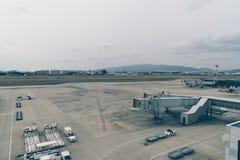 OSAKA JAPAN - December 6, 2015: Kansai internationell flygplats w Royaltyfri Foto