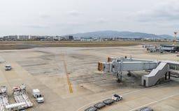 OSAKA JAPAN - December 6, 2015: Kansai internationell flygplats w Arkivfoto