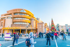 Osaka, Japan - 1 December 2015: The theme park attractions based Royalty Free Stock Photography