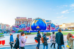 Osaka, Japan - 1 December 2015: The theme park attractions based Stock Photo