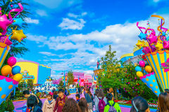 OSAKA, JAPAN - December 1, 2015: Universal Studios Japan (USJ). royalty free stock photos