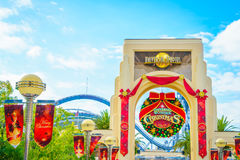 OSAKA, JAPAN - December 1, 2015: Universal Studios Japan (USJ). According to 2014 Theme Index Global Attraction Attendance Report, USJ is ranked fifth among Royalty Free Stock Image