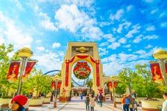 OSAKA, JAPAN - 1. Dezember 2015: Universal Studios Japan (USJ) Stockbilder