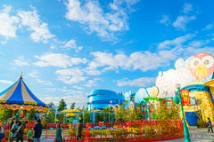 OSAKA, JAPAN - 1. Dezember 2015: Universal Studios Japan (USJ) Lizenzfreies Stockfoto