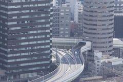 OSAKA, JAPAN - 09 FEBRUARY 2015 - The city of Osaka, in the Kans Stock Photography