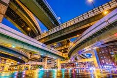 Osaka Japan Highway Junction Royalty Free Stock Photography